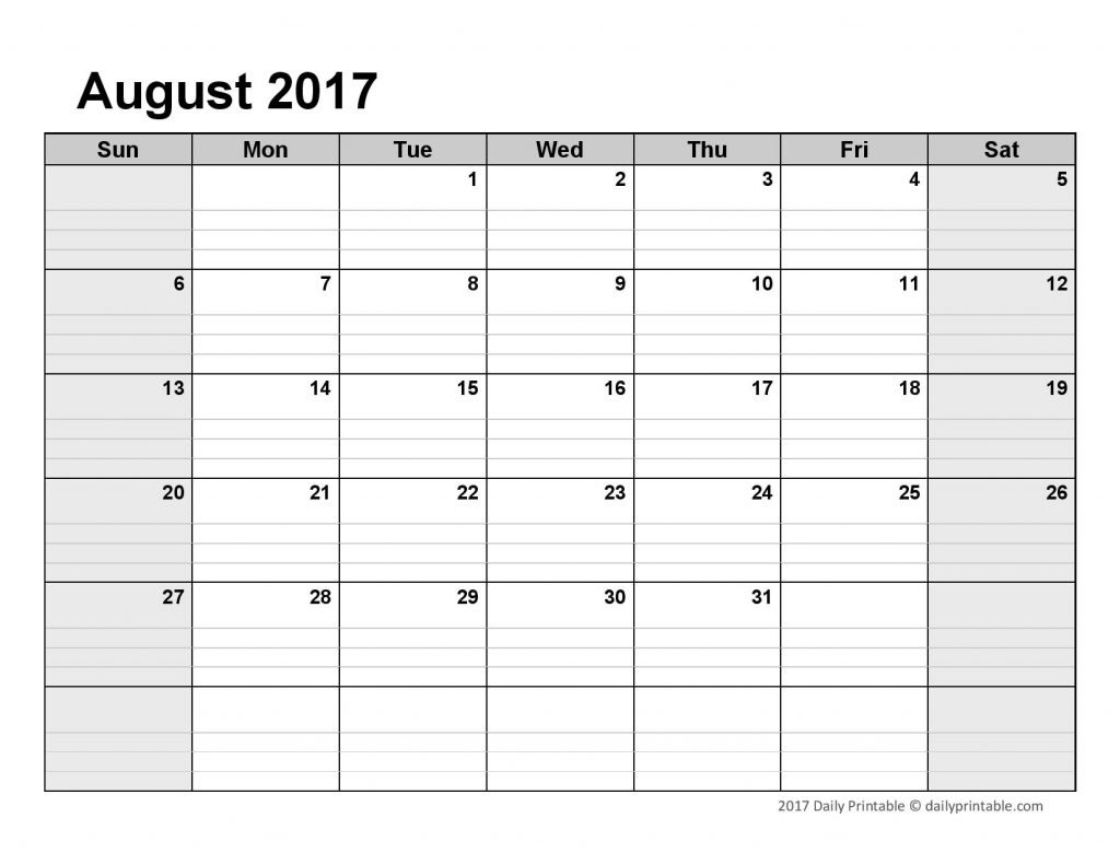 Lined Monthly Calendar Free Printable : Free Calendar Template Monthly Lined Calendar Template
