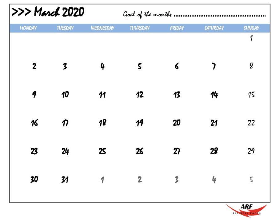 March 2020 Printable Calendar   Print, Edit & Customize As Calender You Can Edit