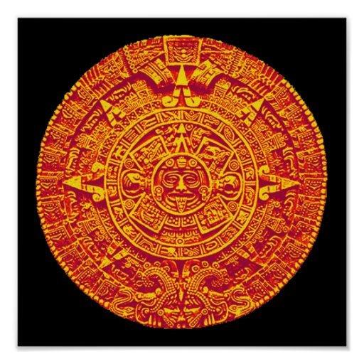 Mayan / Aztec Calendar Print   Zazzle Print A Mayan Calendar