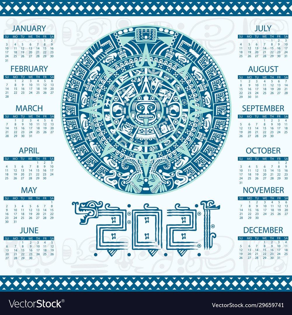 Mayan Calendar 2021 | Printable Calendars 2021 Make A Mayan Calendar Templates