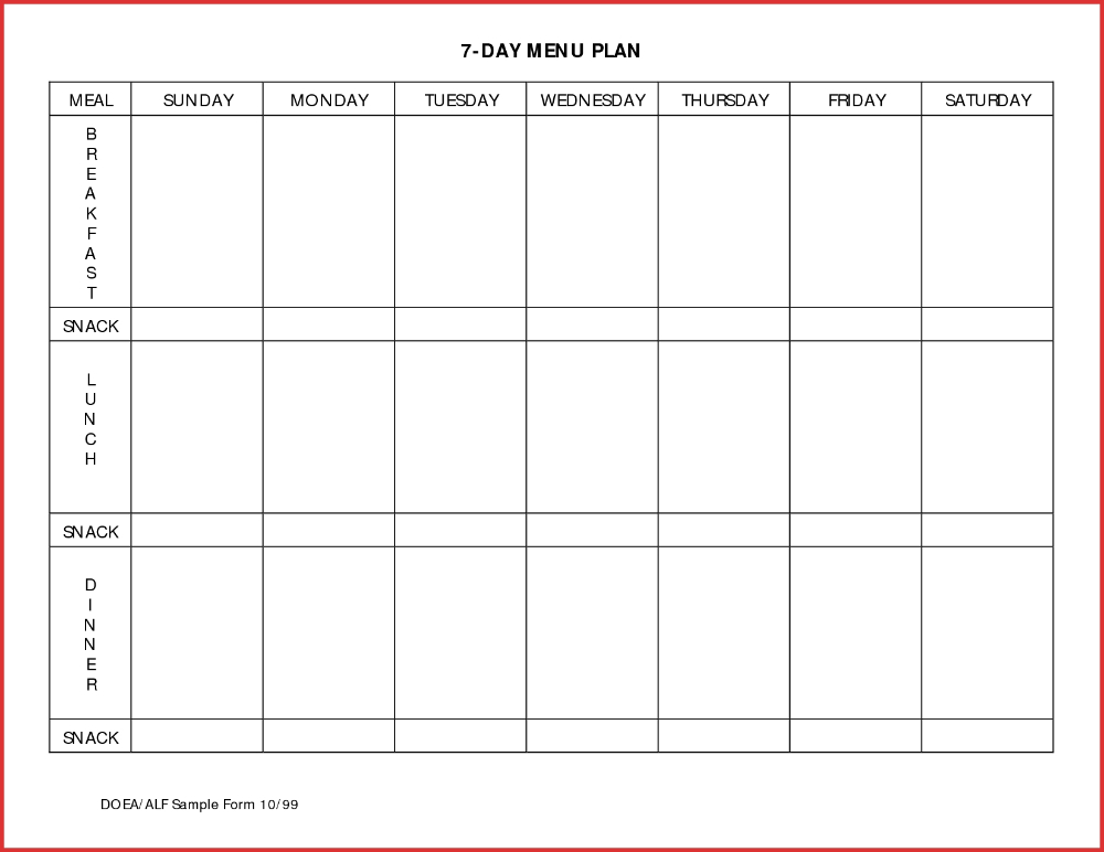 Meal Plan Template Excel Dayndar Printable Planner Free In Calendar For Campground Reservations Excel Spreadsheet