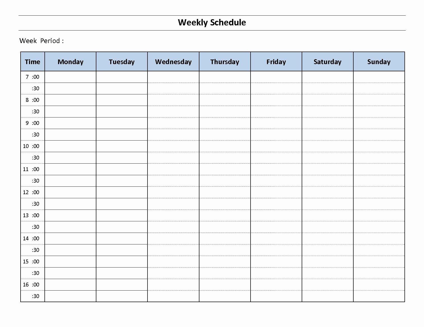 Microsoft Word Weekly Calendar Template In 2020 | Weekly Two Week Calendar Template Free