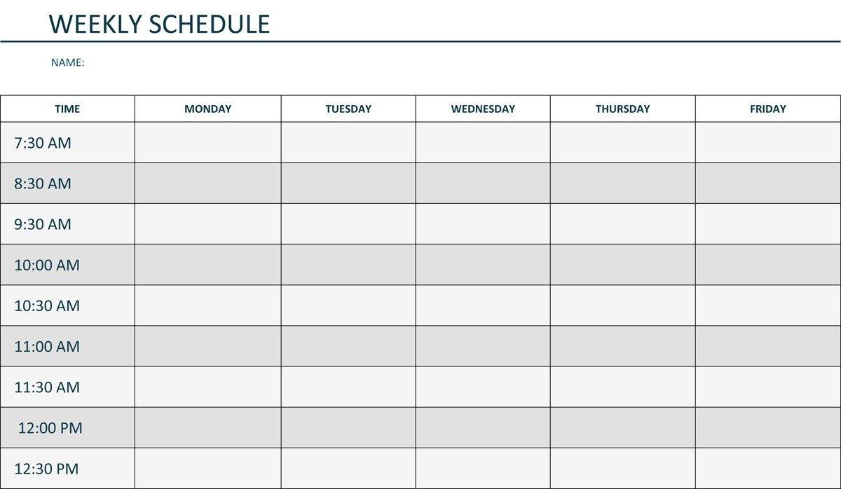 Mon Thru Friday Weekly Blank Calendar | Calendar Template Monday Through Friday Calendar Printable