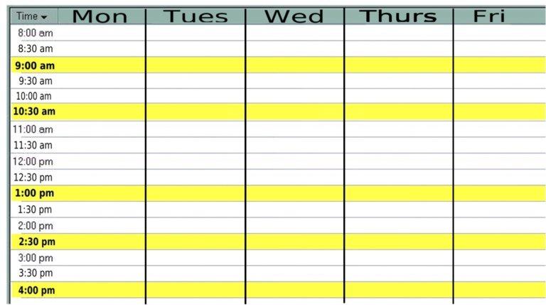 Monday Through Friday Calendar | Diigo Groups Monday Through Friday Planner Template