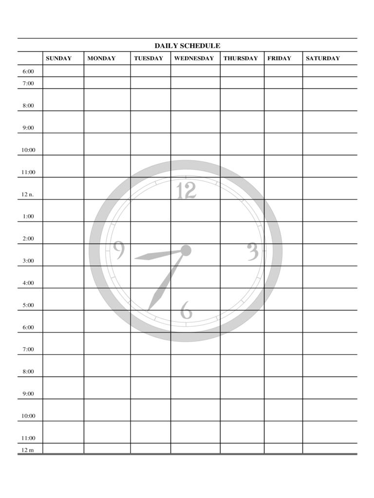 Monday Through Friday Daily Planner – Calendar Inspiration Mon – Fri Calender Layout Download