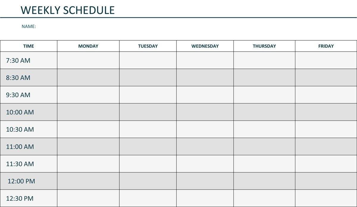 Monday Through Friday Daily Planner – Calendar Inspiration Printable Weekly Calendar Monday Through Friday