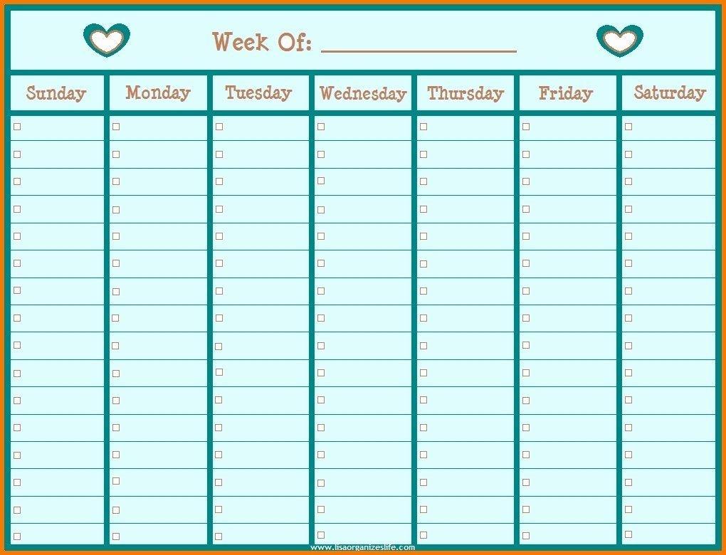 Monday Through Friday Hourly Calendar In 2020 | Weekly Free Blank 1 Week Calendar Monday Through Friday