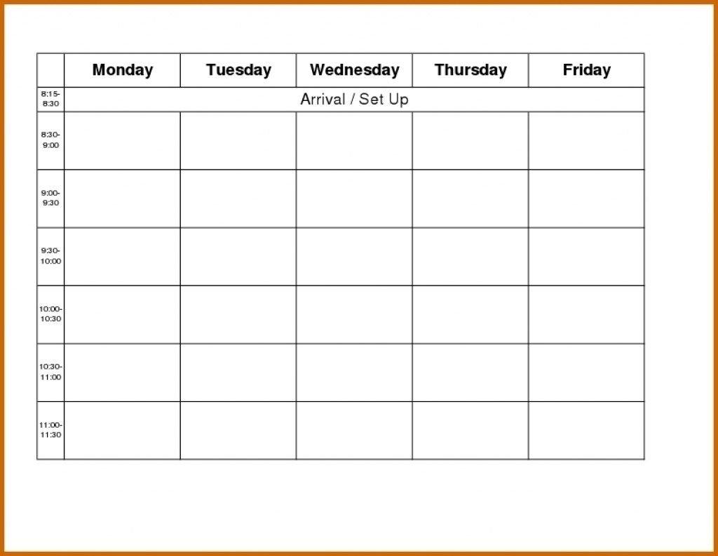 Monday Thru Friday Calendar Printable – Calendar Free Printable Calendars By Month Monday Through Sunday