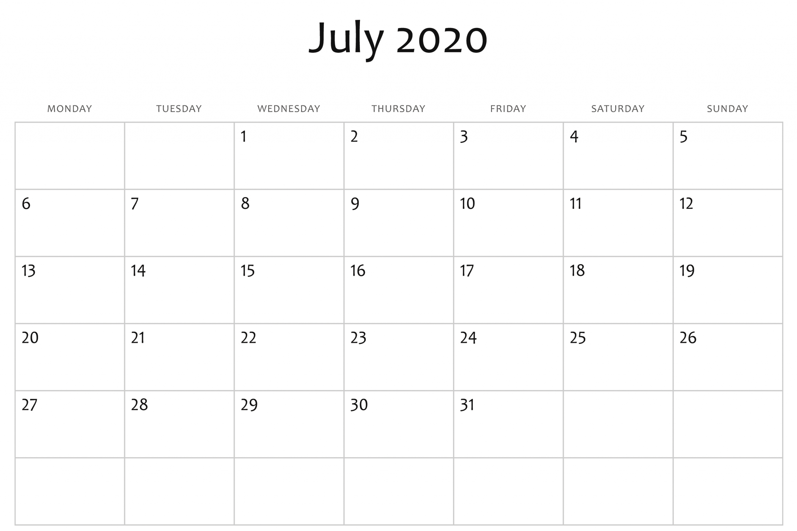 Monday To Friday Planner Templates 2020   Example Calendar Printable 2020 Calendar Free Saturday To Friday