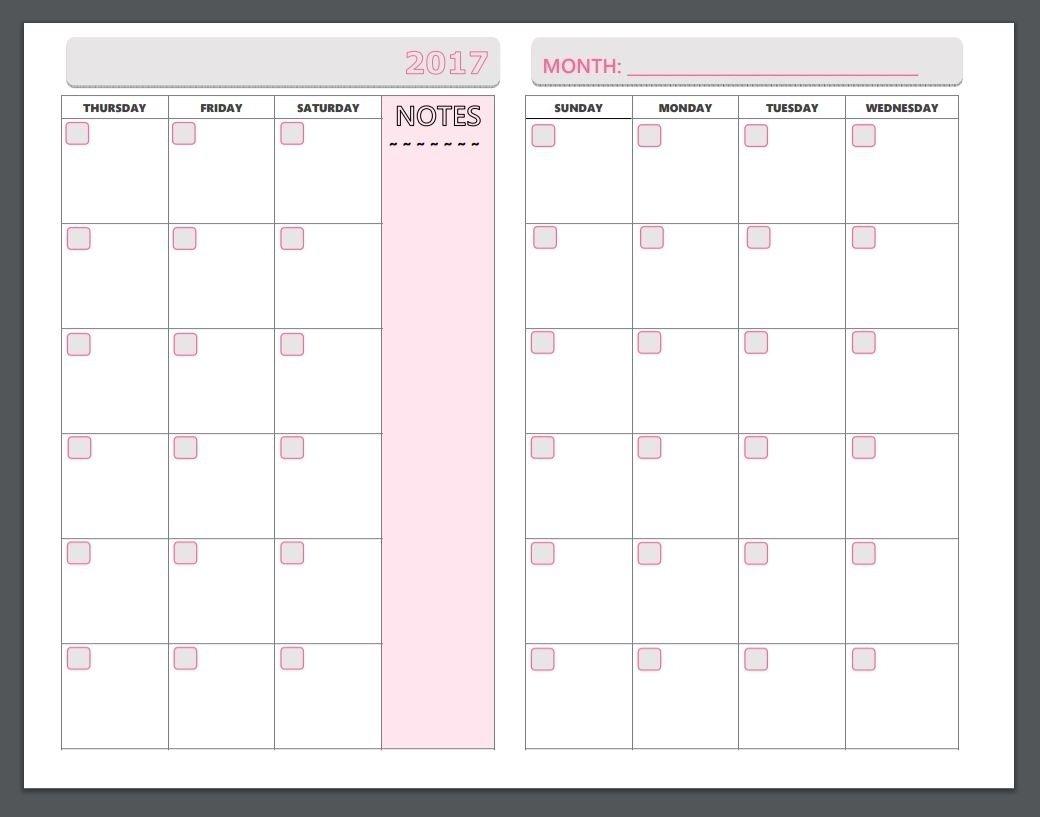 Monday To Sunday Planner | Ten Free Printable Calendar Free Printable Monday Sunday Schedule