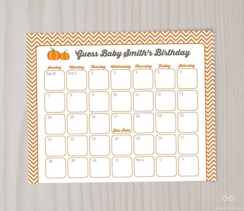 Monkey Baby Due Date Calendar : Free Calendar Template Baby Birth Date Guess Calender