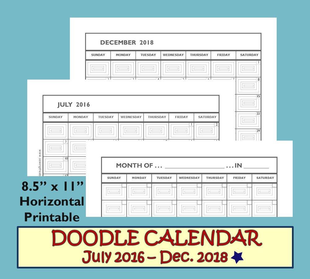 Monthly Calendar 2017-2018 Monthly Calendar Printable 2017 Monthly Calendar On 8 X 11 Sheet
