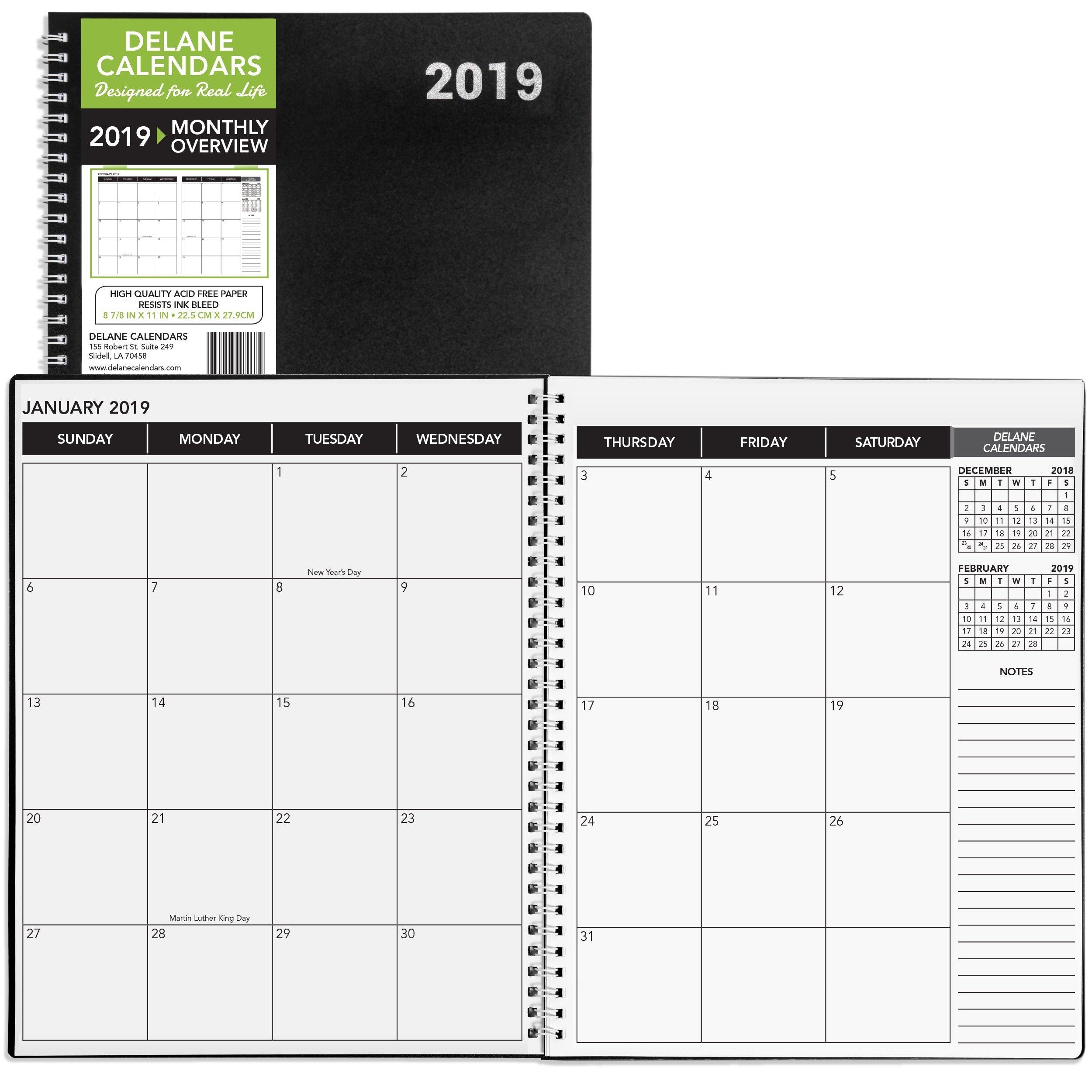 Monthly Calendar 8.5 X 11 • Printable Blank Calendar Template 8 X 11 Calendar Template