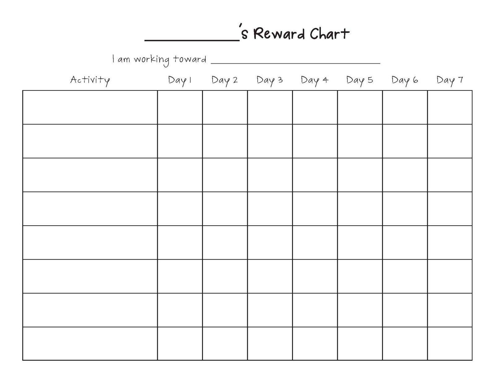 Monthly Calendar Behavior Chart • Printable Blank Calendar Blank Printable 8 Week Schedule
