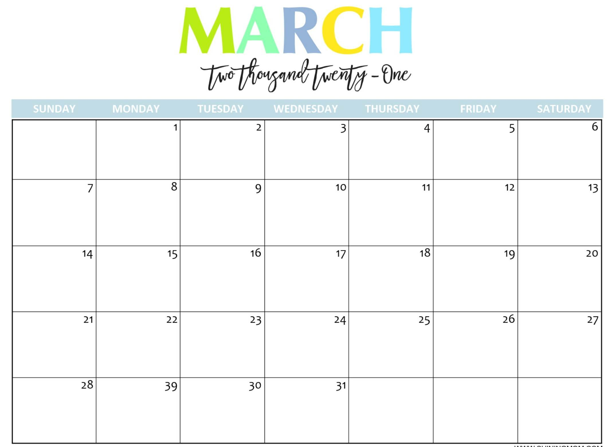 Monthly Calendar For March 2021 Fillable Template – Web Free Weekly Calendar Fillable With Times Starting At 6Am