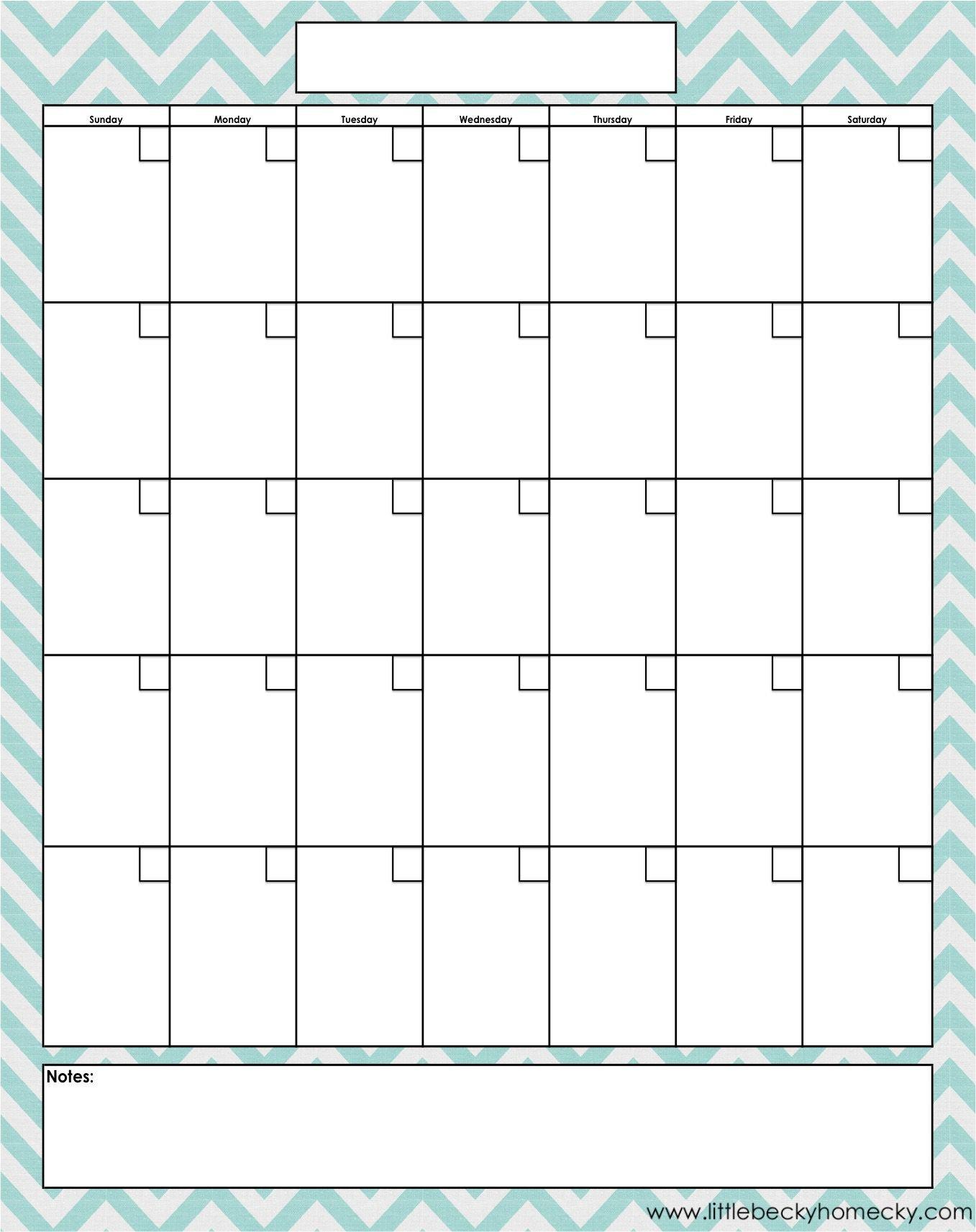 Monthly Calendar Pri̇nt Out | Calendar Templates Free Online Calendar To Fill In