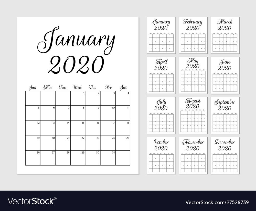Monthly Calendar Print Out For Notebooks | Example 8X5 Monthly Calendar Print Outs
