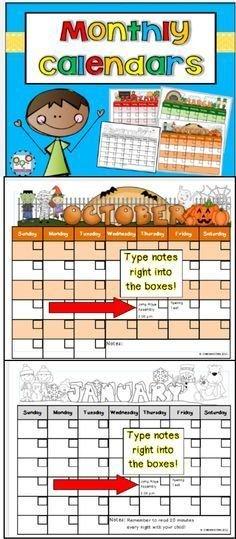 Monthly Calendar Templates Editable   Classroom Calendar Free Editable Preschool Calendar Template