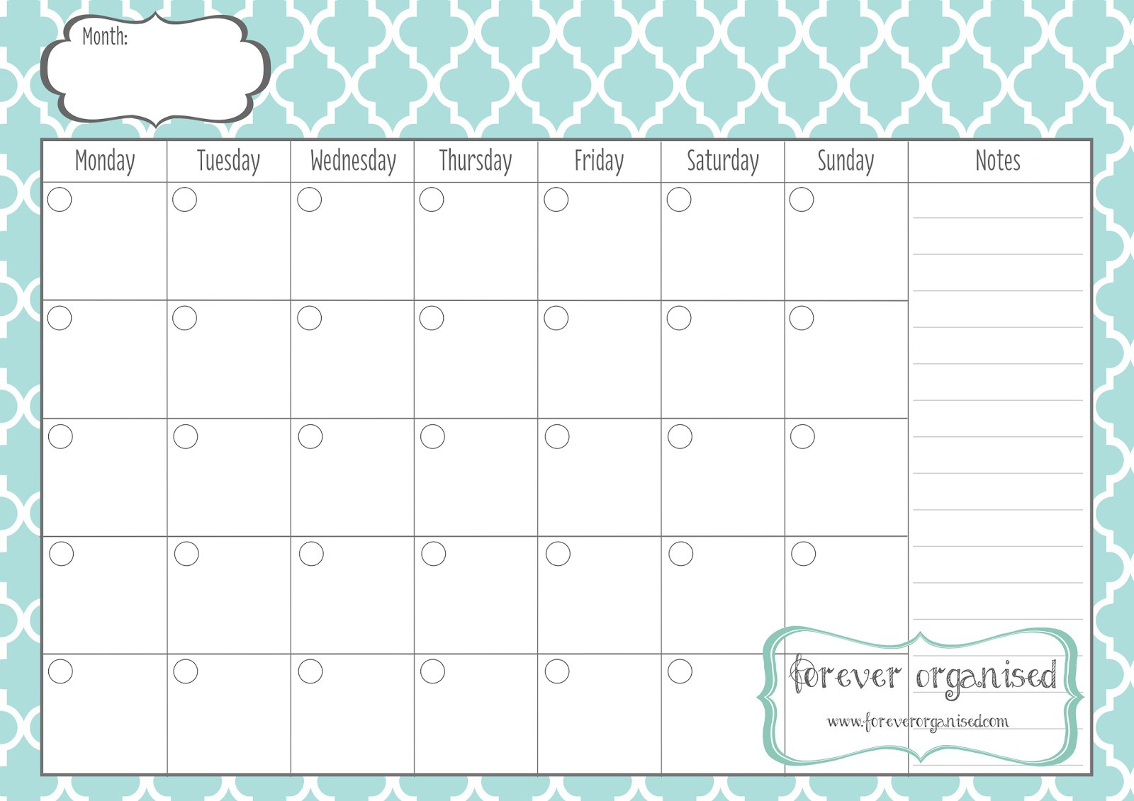 Monthly Calendar To Print – Templates Free Printable Fill Out A Calender Online And Print Out