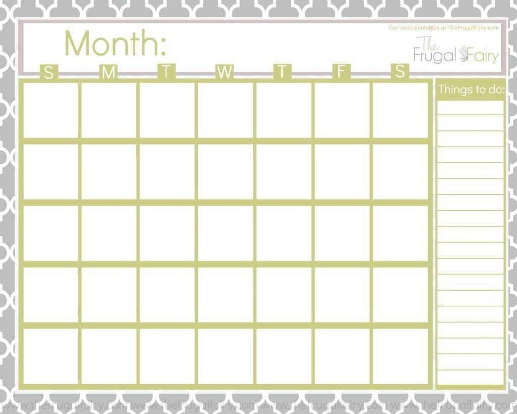 Monthly Fill In Calendar : Free Calendar Template Fill In Calendar Printable