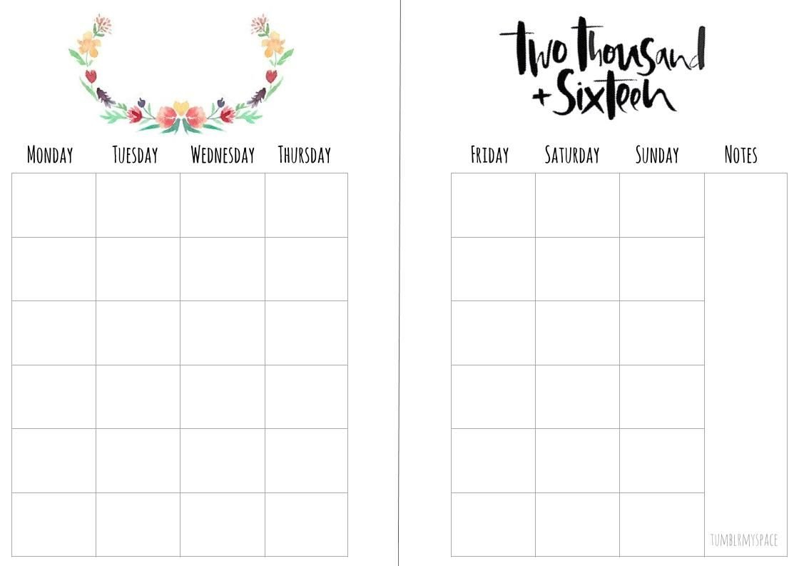 Monthly Planner – Free Download Printable Calendar Templates 8X5.5 Planner Inserts Free Printable