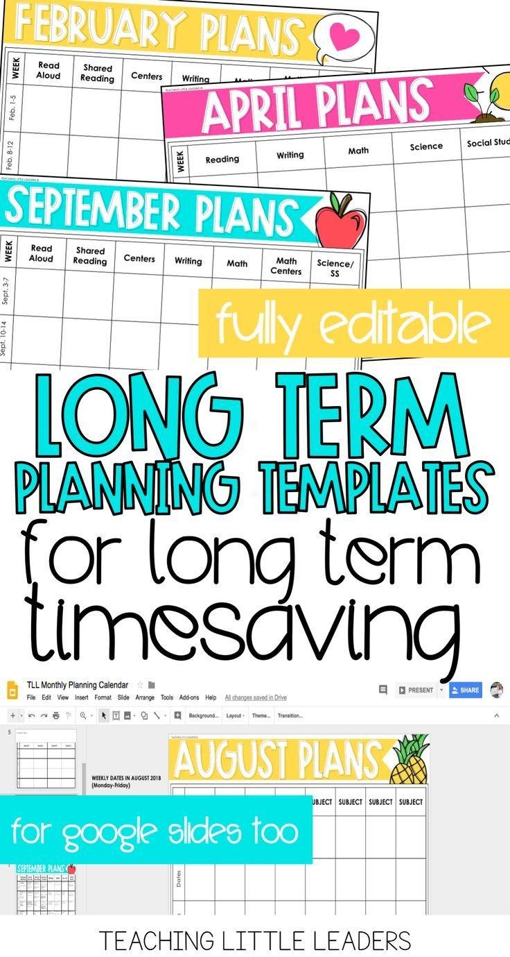Monthly Planning Calendar Templates {Digital & Editable Free Calendar Templates For Teachers