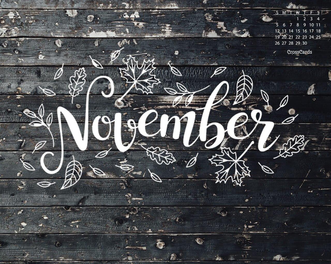 November 2017 – Fall Doodle Desktop Calendar  Free Crosscards Monthly Calendar For Desktop