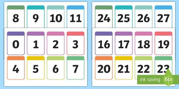 Number Cards 0 30 Printable Number Cards – Number Cards 0 10 Free Printable Numbers Flashcards 1 To 31