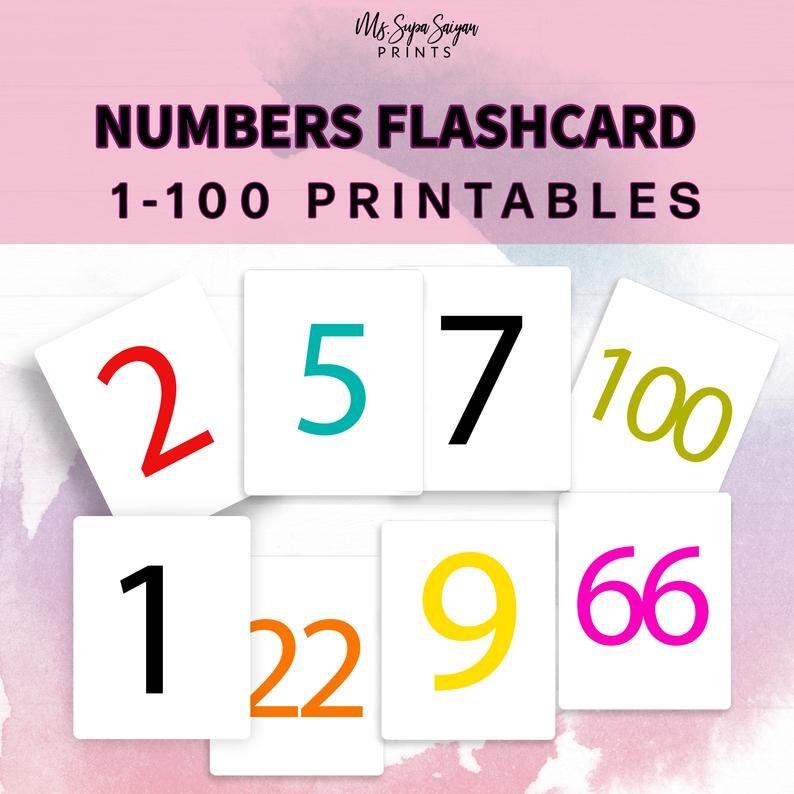 Numbers 1 100 Flashcards Printable Flashcards Toddler Free Printable Numbers Flashcards 1 To 31