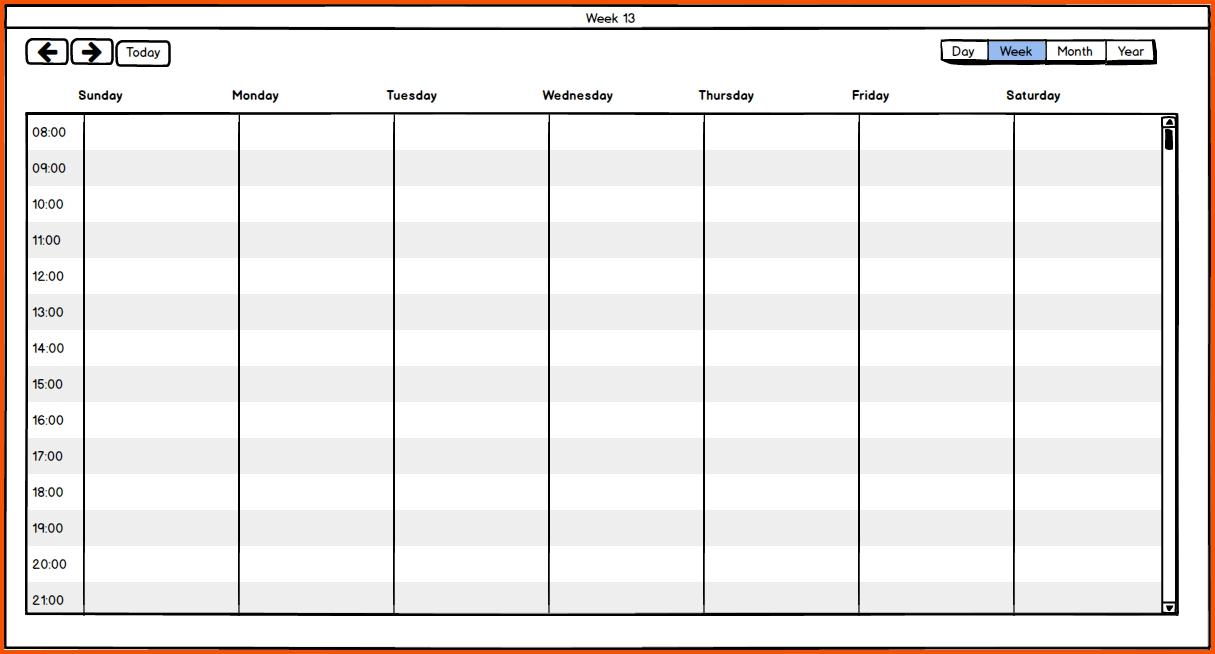 One Week Calendar : Free Calendar Template 1 Week Schedule Template