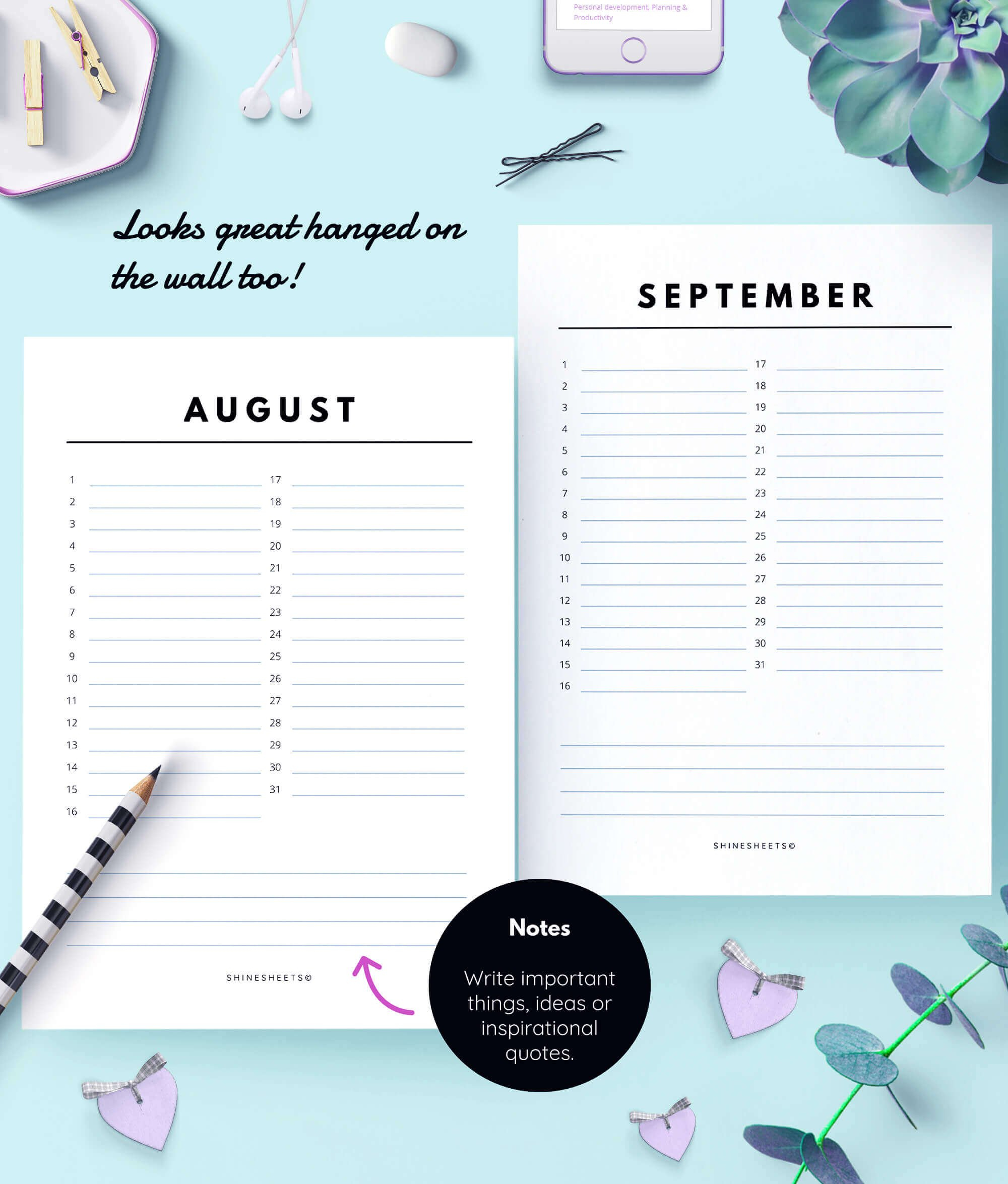 Perpetual Calendar / Birthday Calendar | Shinesheets Perpetual Birthday And Anniversary Calendar Printable
