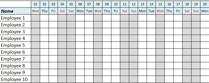 Pin On Human Resources Templates Human Resource Vacation Calendars