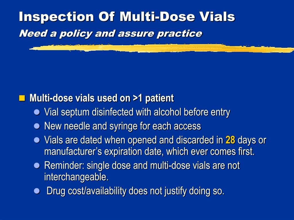 Ppt – Meeting Cms Requirements For Infection Prevention In 28 Day Multi Dose Vial Expiration Date