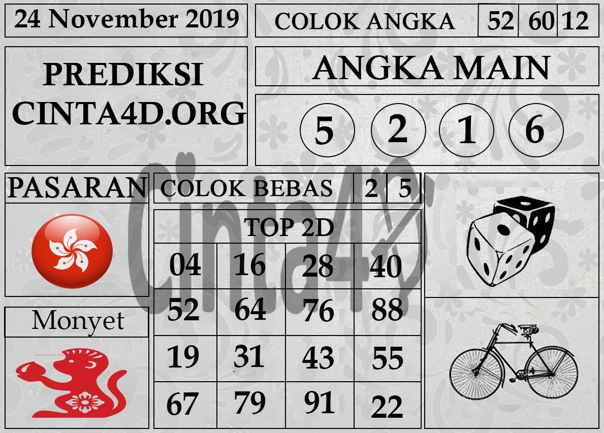 Prediksi Togel Hongkong Hari Ini 24 November 2019 | Jenis Calendar For Depo Shio