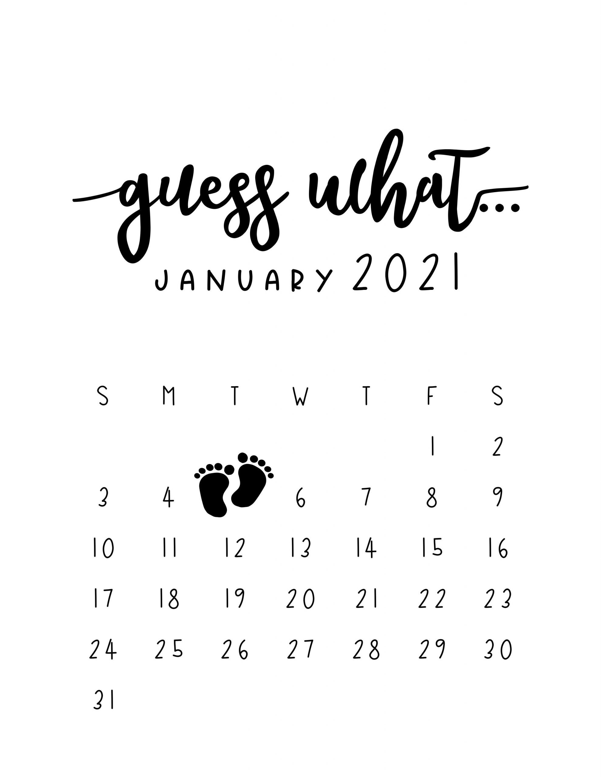 Pregnancy Announcement Calendar – Personalized Guess What How To Make Baby Due Date Calendar April 2020