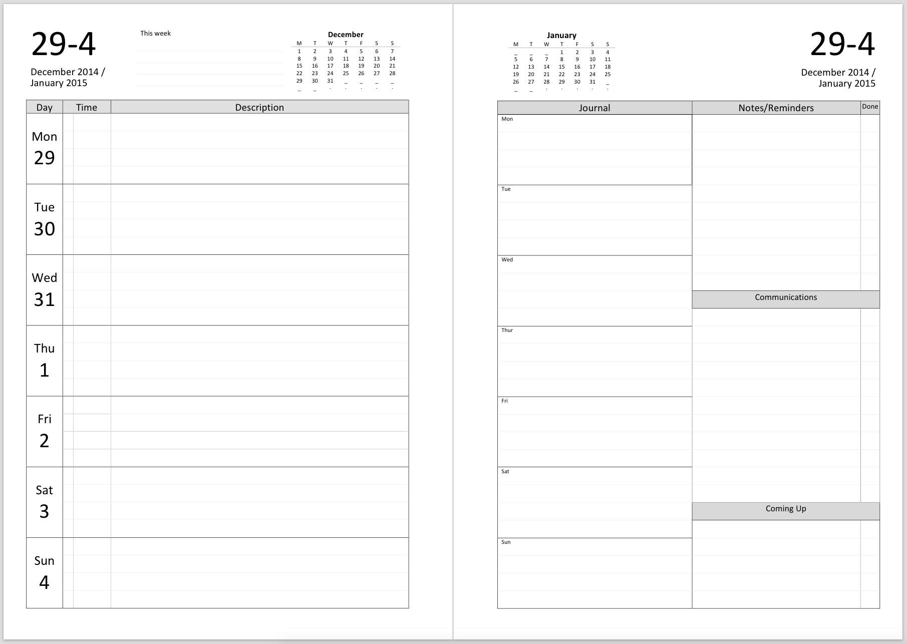 Print A Two Week Calendar – Calendar Inspiration Design 2 Week Calendar Blank