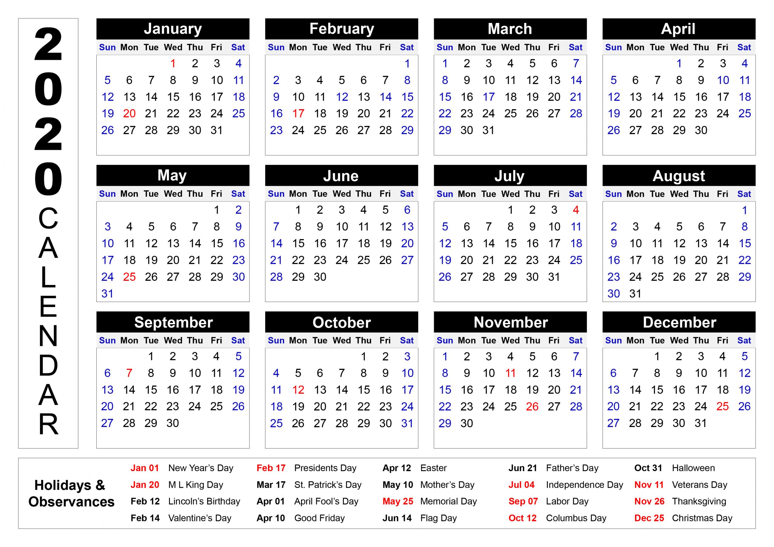 Print Calendar Select Dates   Calendar Printables Free Updateable 12 Month Calendar – Free
