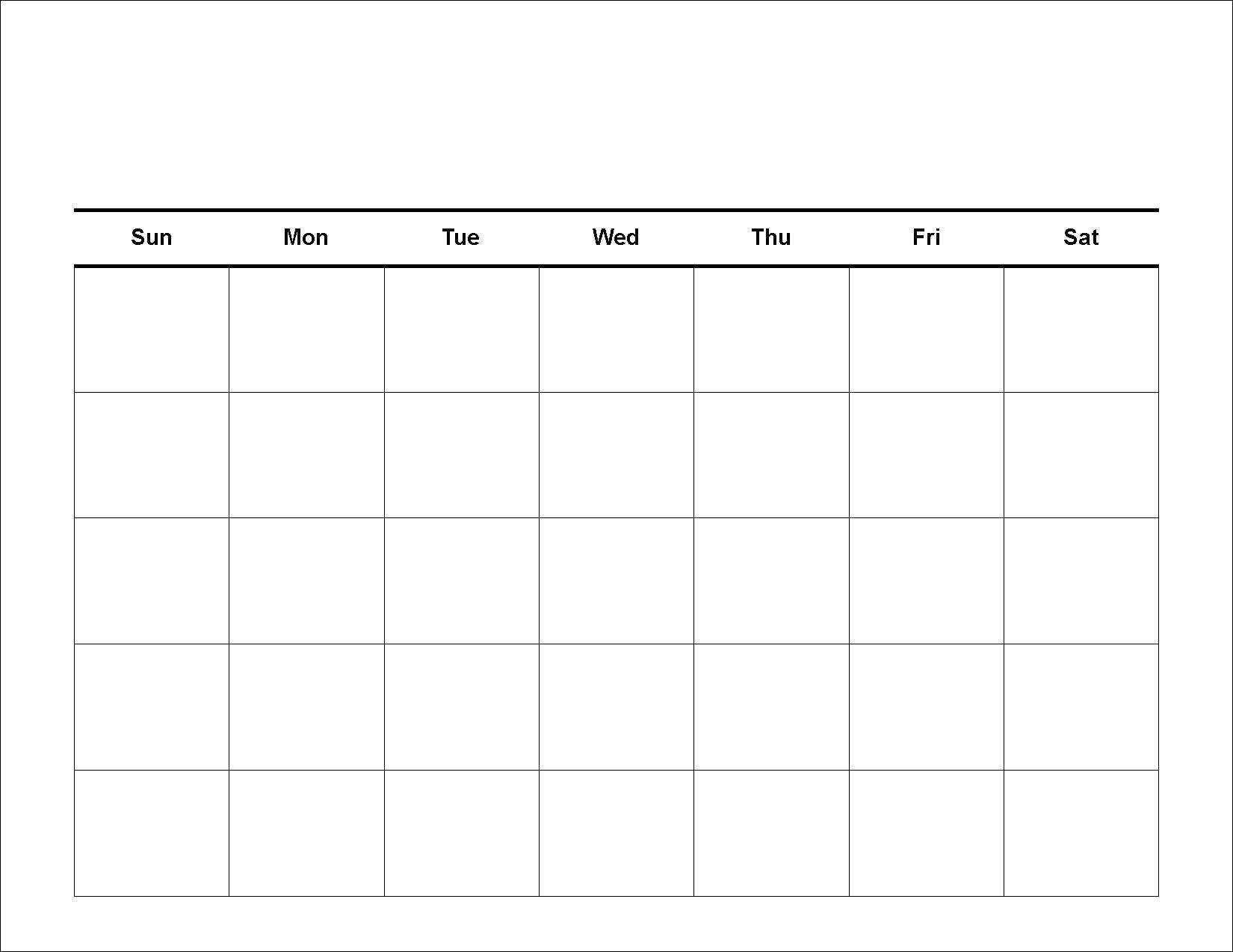 Printable 2 Week Blank Calendar Template | Calendar 2 Week Calendar Template