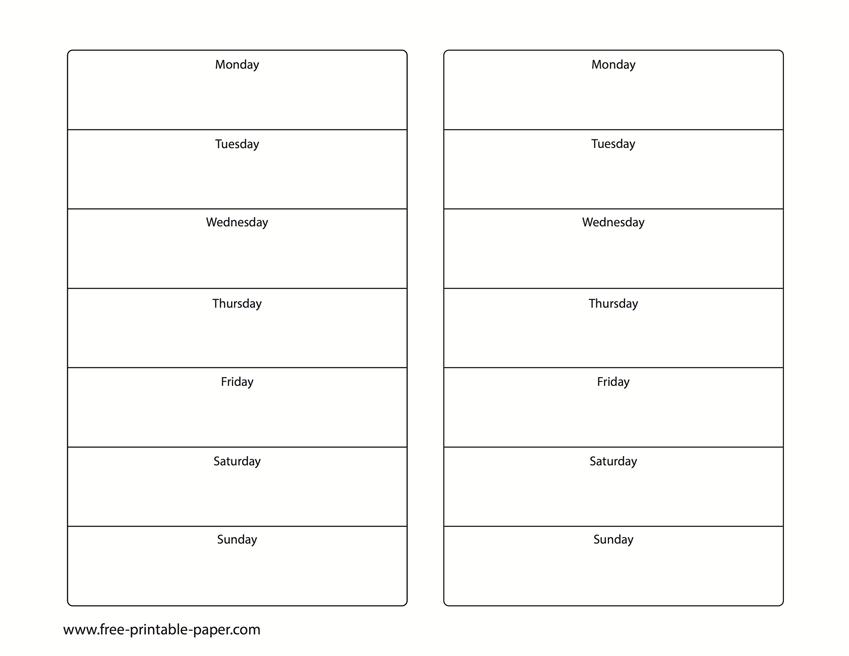 Printable 2 Week Calendar – Two Week Calendar Template Create 2 Week Schedule