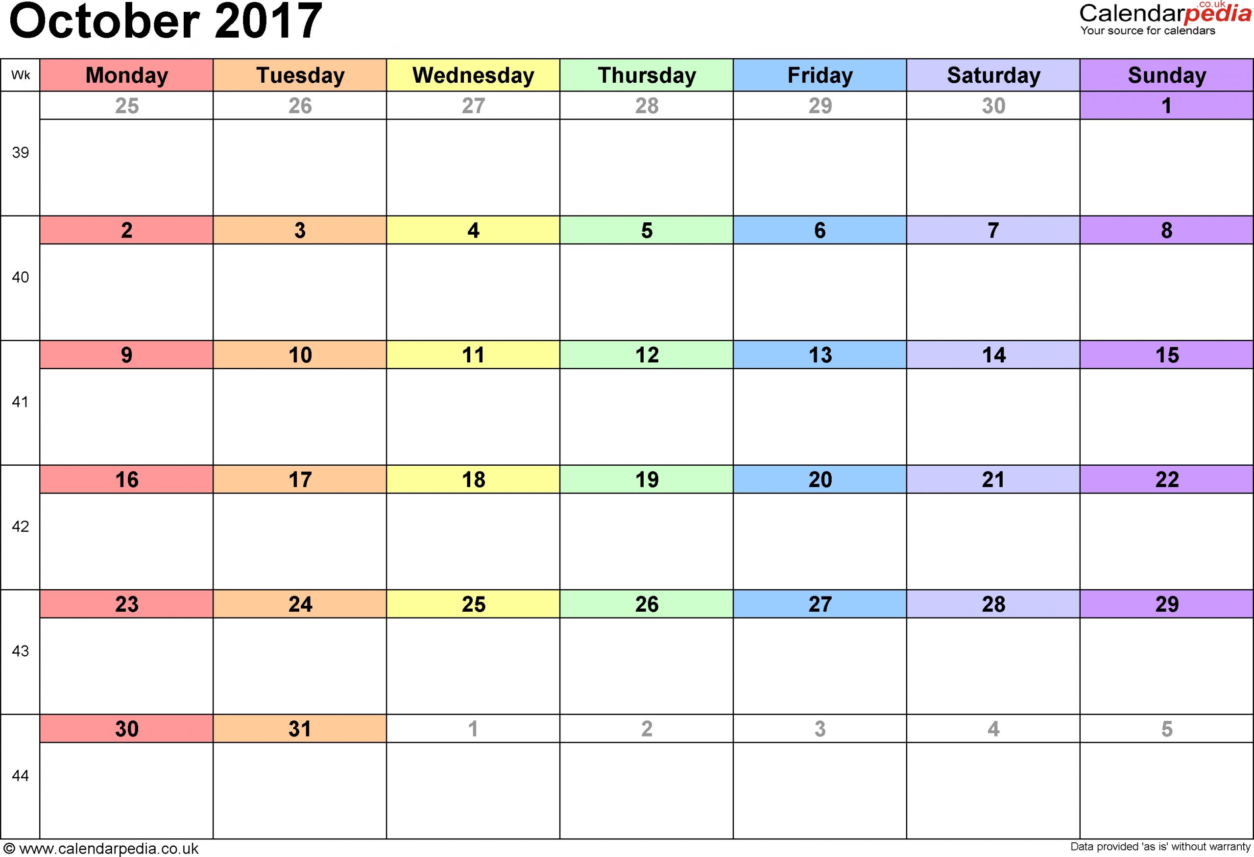 Printable 31 Day Calender | Printable Calendar Template 2020 Printable Numbers 1 – 31