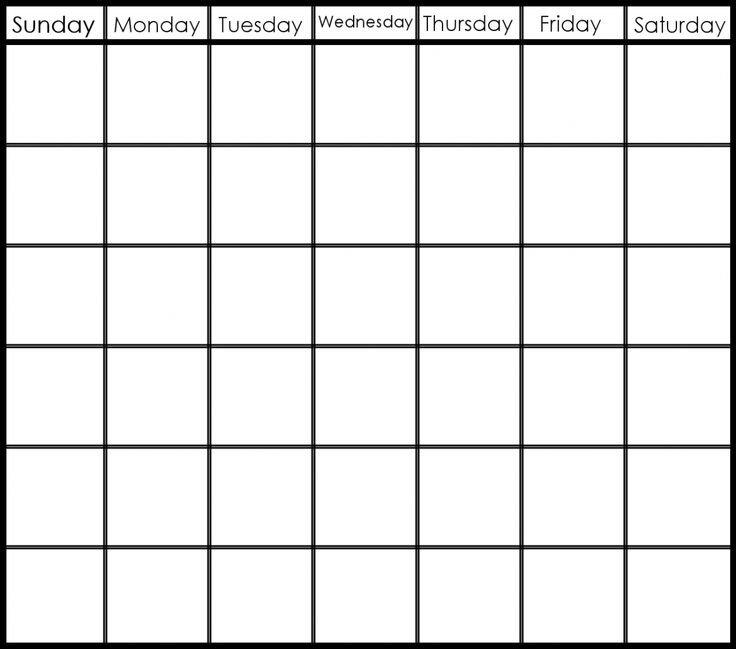 Printable 6 Week Calendar Printable 2 Week Calendar Create A Two Week Calendar