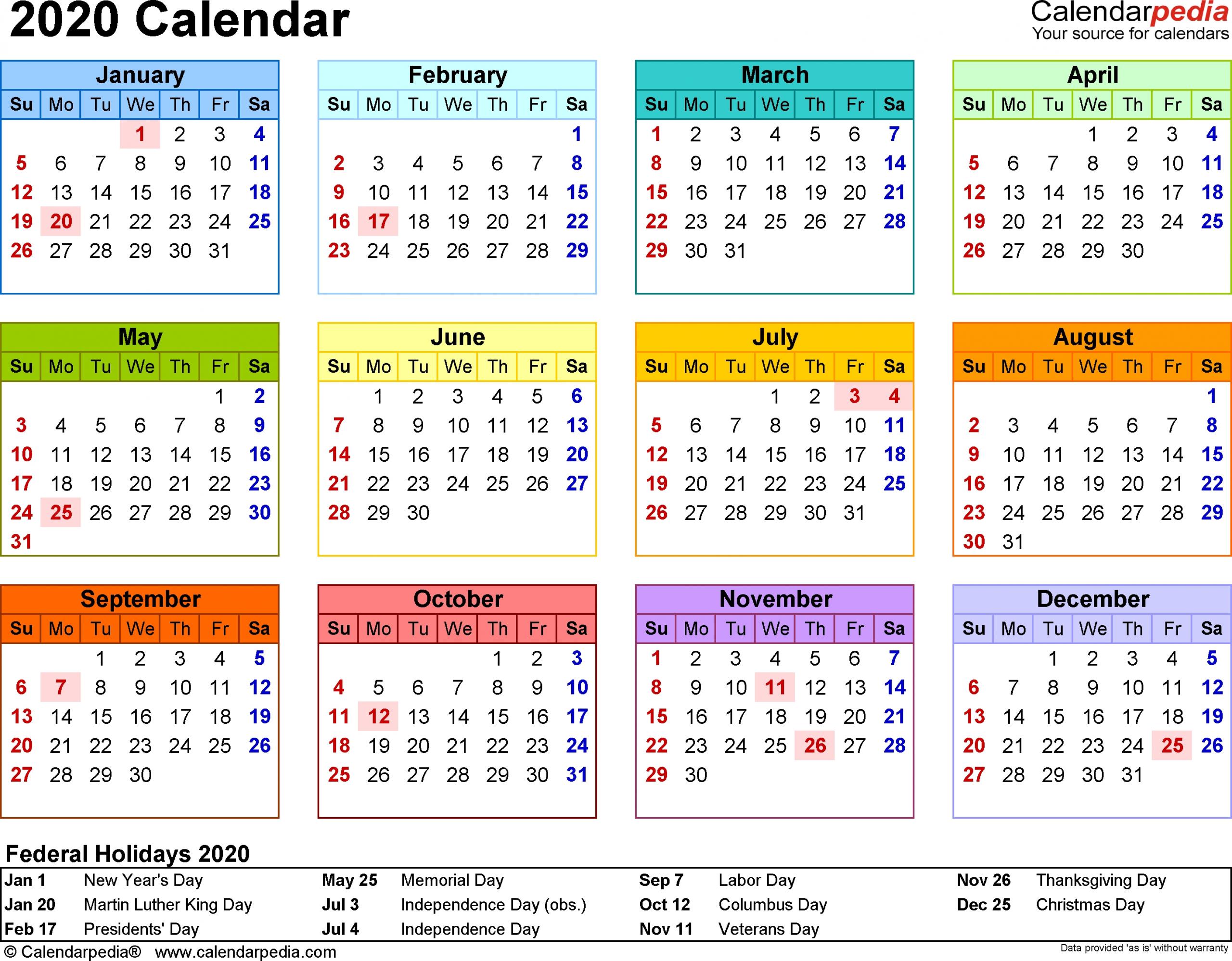 Printable Calendar One Week Per Page 2020 – Calendar Calendar Week On On Page
