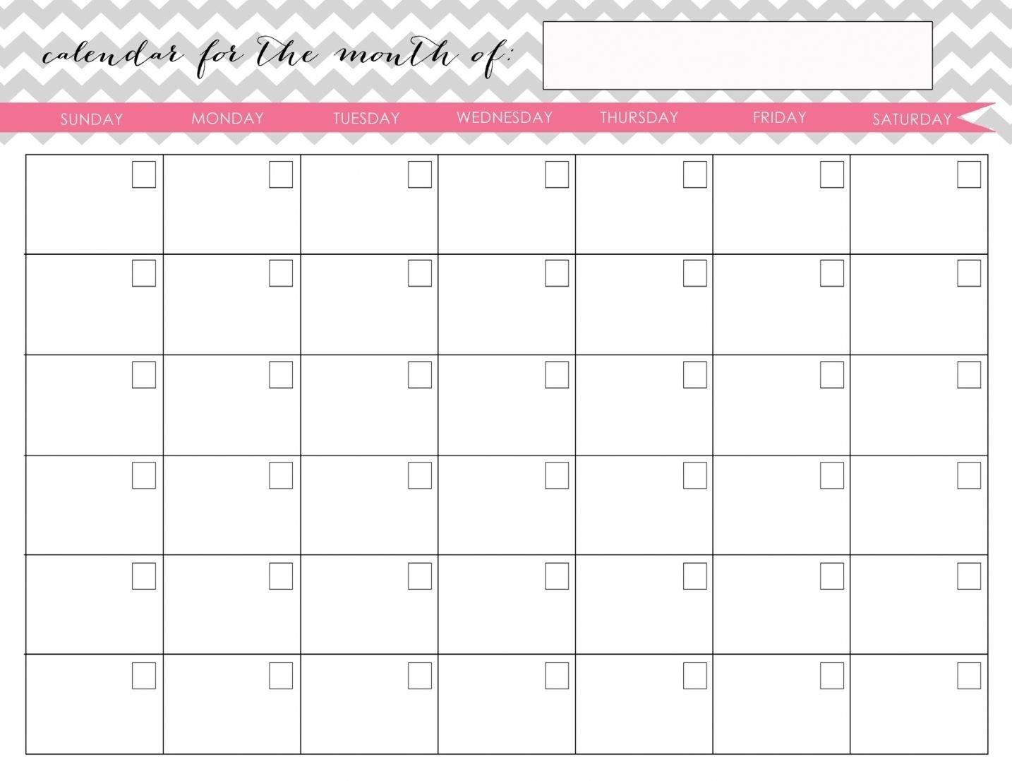 Printable Fill In Calendarmonth | Calendar Template Fill In Calendar Printable