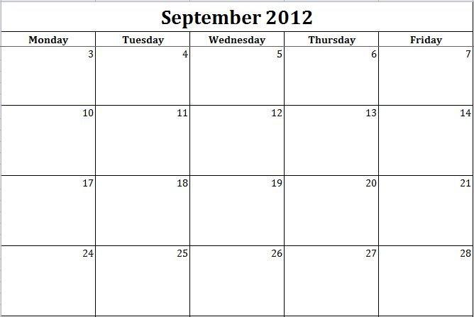 Printable Monday Through Friday Template – Bing Printable Weekly Calendar Monday Through Friday