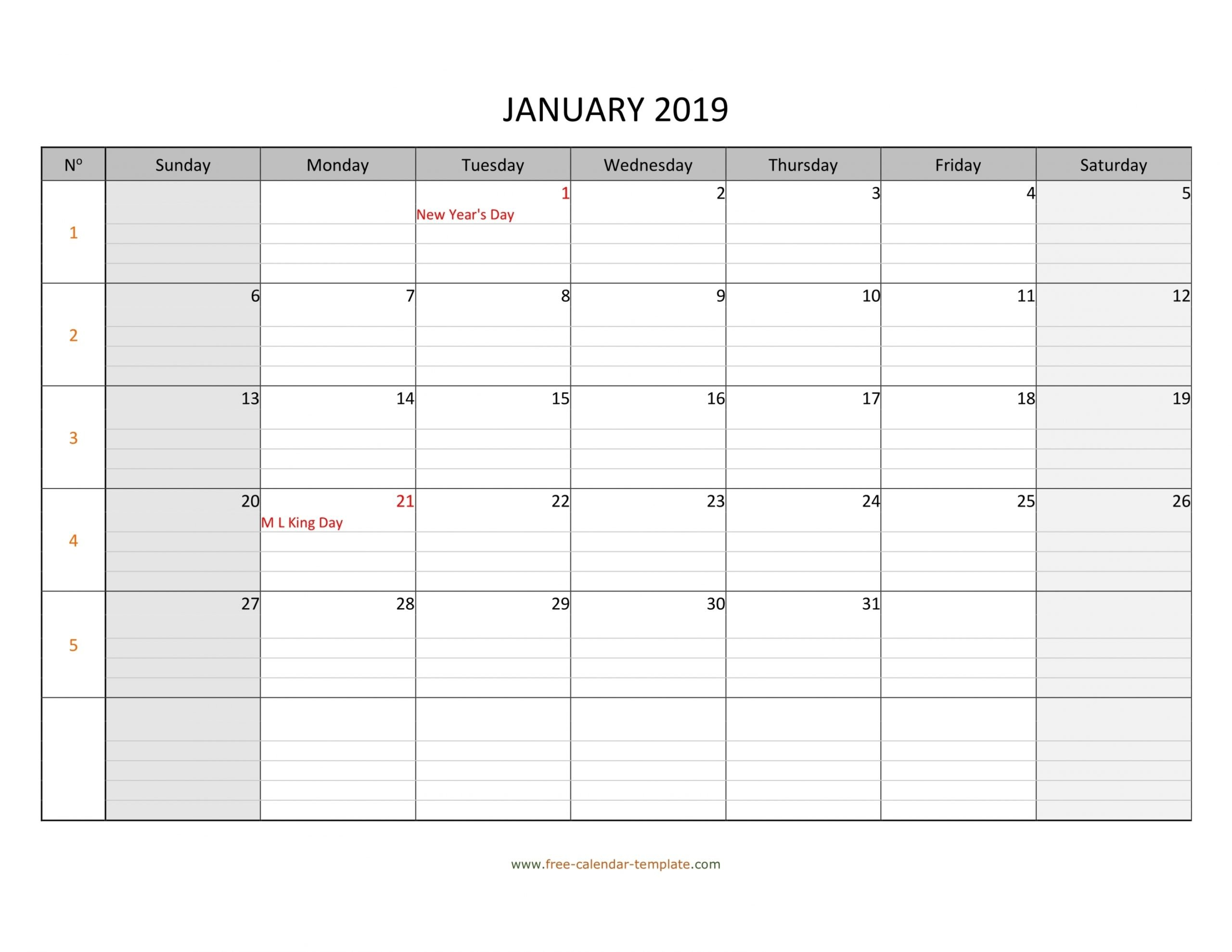 Printable Monthly Calendar With Lines   Free Letter Templates Blank Lined Calendar To Print