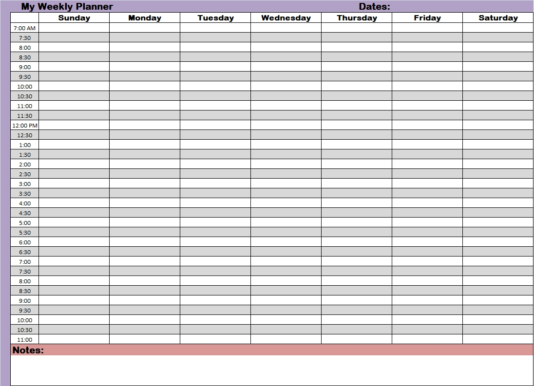 Printable Monthly Calendar With Time Slots – Calendar Printable Weekly Calendar With Time Slots School