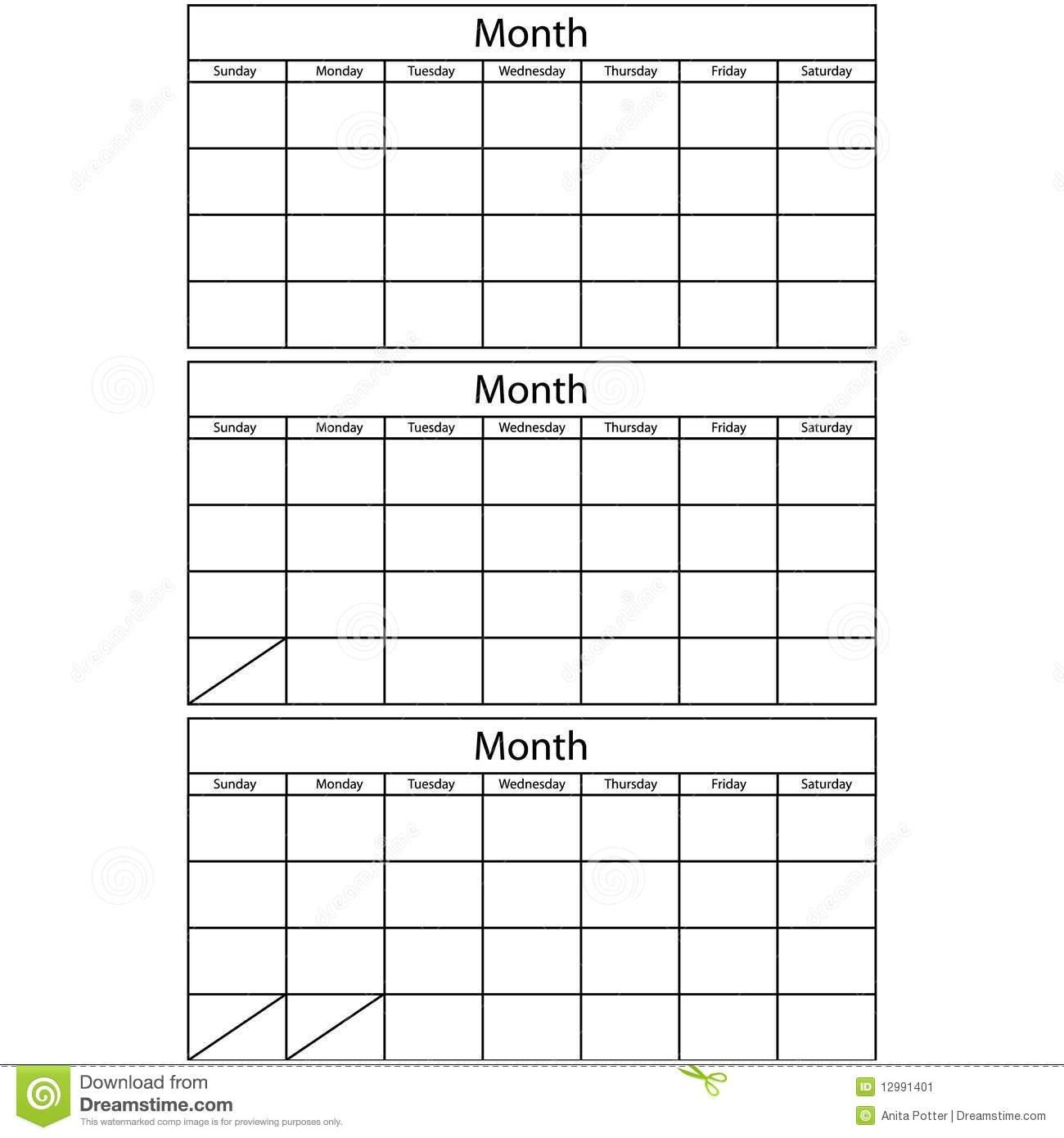 Printable Multi Month Calendars : Free Calendar Template Printable 3 Month Calendar