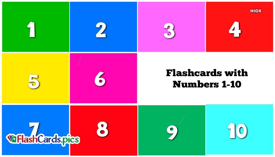 Printable Numbers 1 10 Flashcards That Are Dashing Free Printable Numbers Flashcards 1 To 31