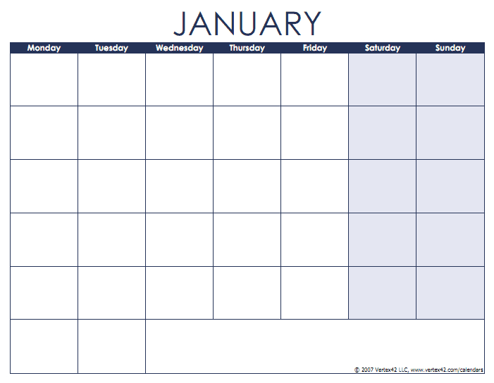 Ravelcouj – Excel 2012 Monthly Calendar Templates Mon To Friday Template