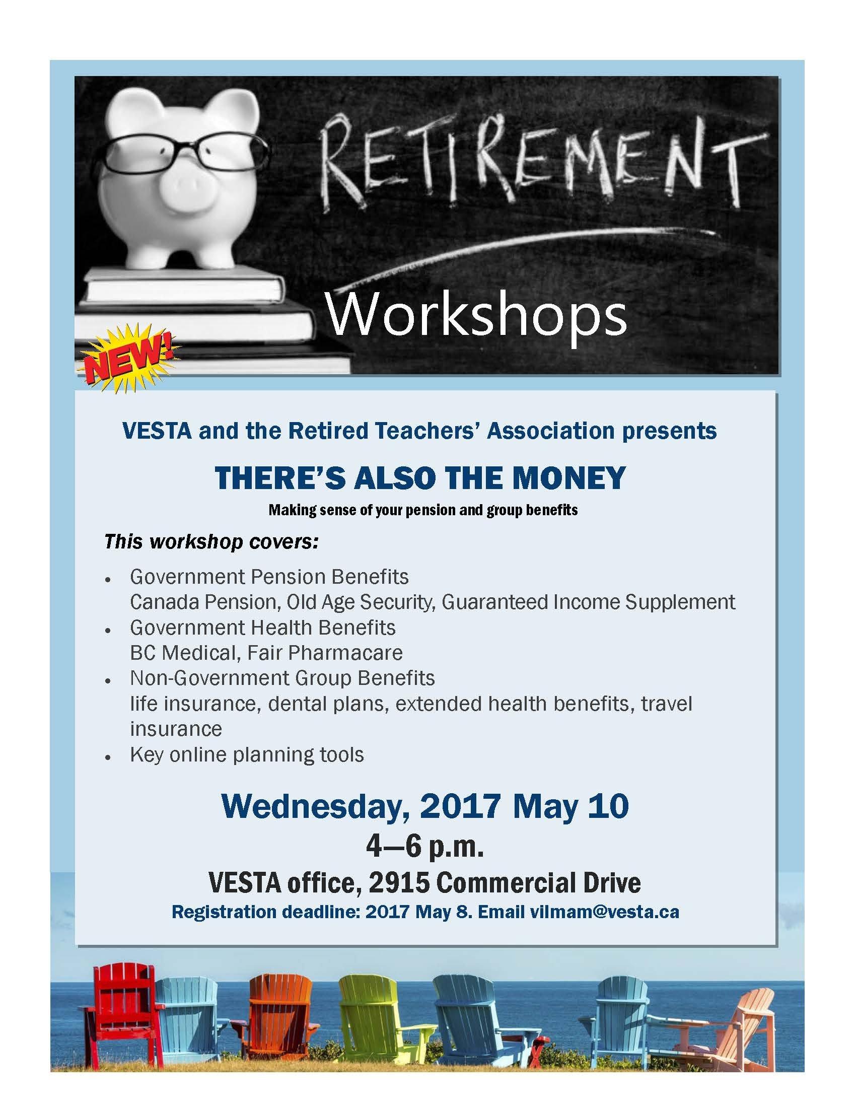Retirement Workshop – Vancouver Elementary School Teachers Retirement Short Timer Calendar